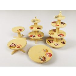 5-Piece Cake Stand with Cupcake Motives